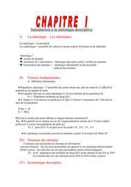 Introduction à la statistique descriptive