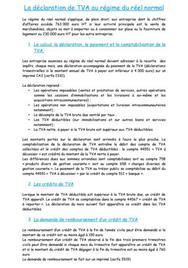 La déclaration de TVA au régime du réel normal