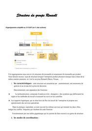 Structure du Groupe Renault