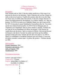 Chanson d'automne de Paul Verlaine