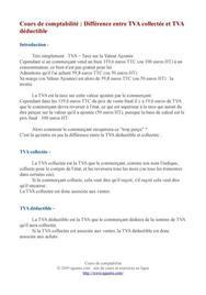 Différence entre TVA déductible et TVA collectée