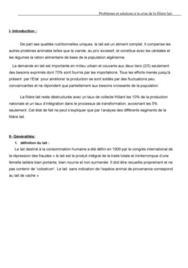 problèmes et solutions de la crise de la filière lait en Algérie