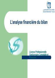 L'analyse financière du bilan