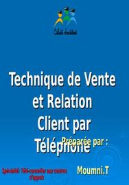 Technique de Vente et Relation Client par Téléphone