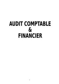 Cours d'audit financier et comptable