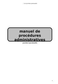 Manuel de procédures administratives d'une entreprise