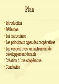 Les coopératives au maroc