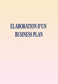 Elaboration d'un business plan