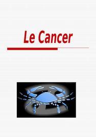 Exposé sur  le cancer