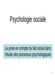 Introduction à la psychologie sociale