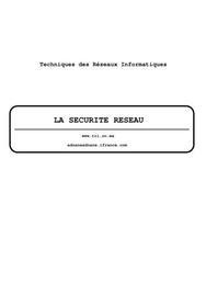 La sécurité des réseaux