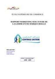 Etude de marché d'un nouvau produit de centrale laitière