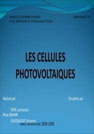 Les cellules photovoltaiques: principe,avantages, inconvénients et utilisation dans le monde