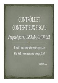 Contrôle et contentieu fiscal en tunisie (version 2010)