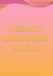 La responsabilité sociale des entreprises