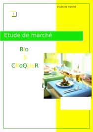 Etude de marché :création d'un restaurant bio
