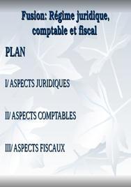 Fusion: aspcets juridiques, fiscales et comptables