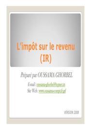 L'impôt su les revenus en tunisie (version 2009)- diapos