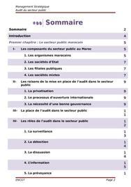 Audit publique au maroc