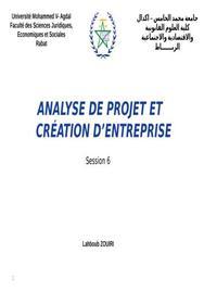 Analyse des projets et création des entreprises