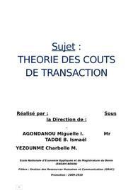 Coûts de transaction