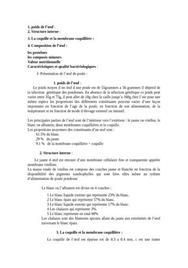 Composition et contamination des oeufs