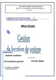 Location de voiture sous acces et visual basic