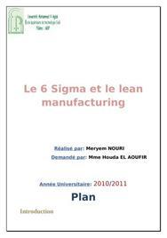6 sigma et le lean manufacturing