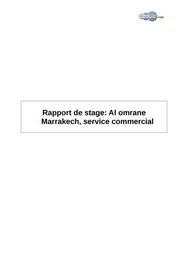 Rapport de stage: al omrane marrakech, service commercial