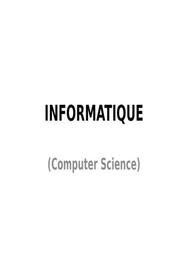 Informatique (computer science)