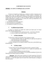 Les aspects juridiques de la fusion