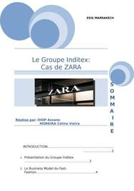 Le groupe inditex présentation de zara