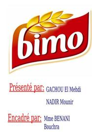 Expose sur la societe de bimo