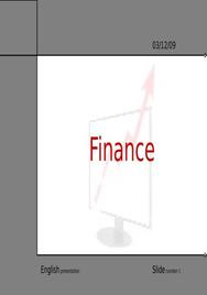 English presentation: finance