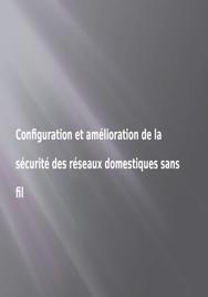 Configuration réseaux sans fil