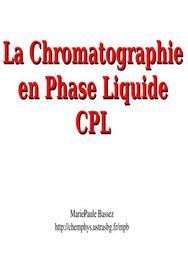 La chromatographie en phase liquide