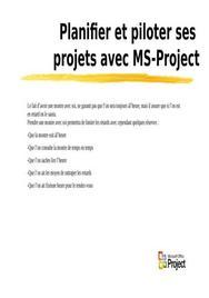 Formation sur le software ms projet
