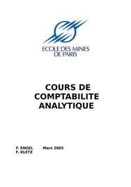 Cours de comptabilite analytique