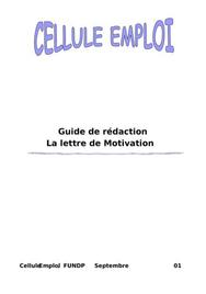 Guide de rédaction de lettre de motivation