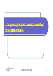 Les principes de la communication
