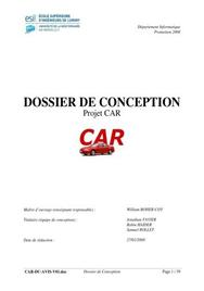 Dossier de conception