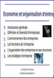Chap 2 environnement de l'entreprise