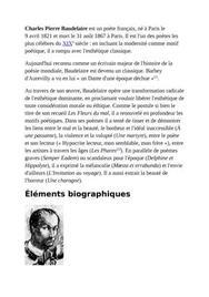 Charles baudelaire bio