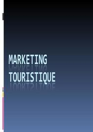 Marketing touristique