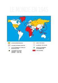 Le monde en 1945 - carte