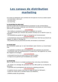 Les canaux de distribution marketing