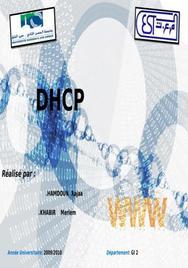 Expose sur la configuration de dhcp