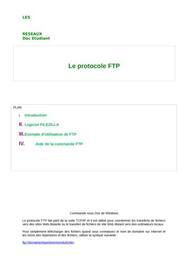 Les rÉseaux :  le protocole ftp