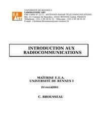 Introduction aux  radiocommunications
