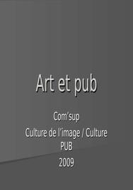 Art et pub:liens (format ppt)